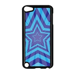Abstract Starburst Blue Star Apple Ipod Touch 5 Case (black)
