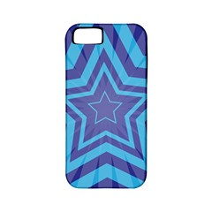 Abstract Starburst Blue Star Apple Iphone 5 Classic Hardshell Case (pc+silicone)