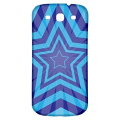 Abstract Starburst Blue Star Samsung Galaxy S3 S Iii Classic Hardshell Back Case