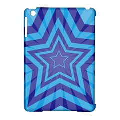 Abstract Starburst Blue Star Apple iPad Mini Hardshell Case (Compatible with Smart Cover)
