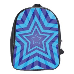 Abstract Starburst Blue Star School Bags (xl)