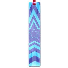 Abstract Starburst Blue Star Large Book Marks