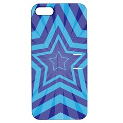 Abstract Starburst Blue Star Apple Iphone 5 Hardshell Case With Stand