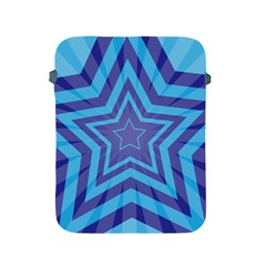 Abstract Starburst Blue Star Apple Ipad 2/3/4 Protective Soft Cases