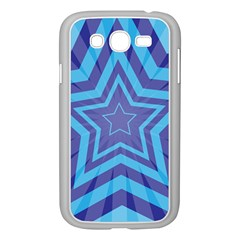 Abstract Starburst Blue Star Samsung Galaxy Grand Duos I9082 Case (white)