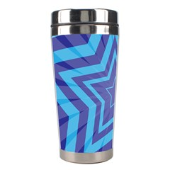 Abstract Starburst Blue Star Stainless Steel Travel Tumblers