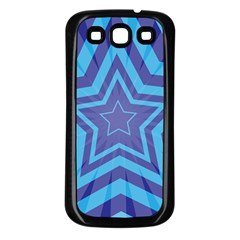 Abstract Starburst Blue Star Samsung Galaxy S3 Back Case (black)