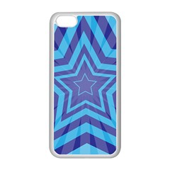 Abstract Starburst Blue Star Apple Iphone 5c Seamless Case (white)