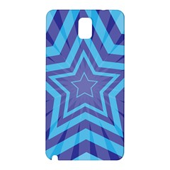 Abstract Starburst Blue Star Samsung Galaxy Note 3 N9005 Hardshell Back Case