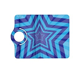 Abstract Starburst Blue Star Kindle Fire HD (2013) Flip 360 Case