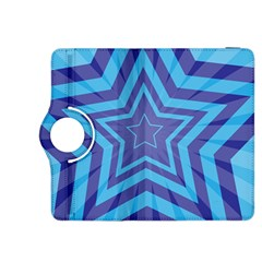 Abstract Starburst Blue Star Kindle Fire Hdx 8 9  Flip 360 Case