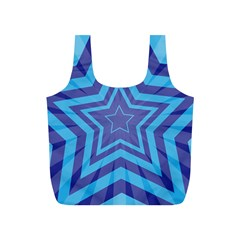Abstract Starburst Blue Star Full Print Recycle Bags (s)