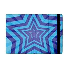 Abstract Starburst Blue Star Ipad Mini 2 Flip Cases