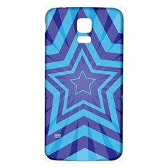 Abstract Starburst Blue Star Samsung Galaxy S5 Back Case (white)