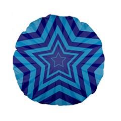 Abstract Starburst Blue Star Standard 15  Premium Flano Round Cushions