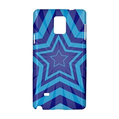 Abstract Starburst Blue Star Samsung Galaxy Note 4 Hardshell Case