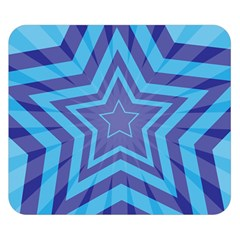 Abstract Starburst Blue Star Double Sided Flano Blanket (small)