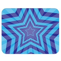 Abstract Starburst Blue Star Double Sided Flano Blanket (medium)