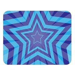 Abstract Starburst Blue Star Double Sided Flano Blanket (large)