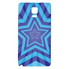 Abstract Starburst Blue Star Galaxy Note 4 Back Case