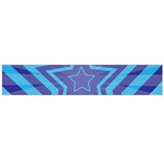 Abstract Starburst Blue Star Flano Scarf (large)