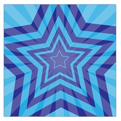 Abstract Starburst Blue Star Large Satin Scarf (square)