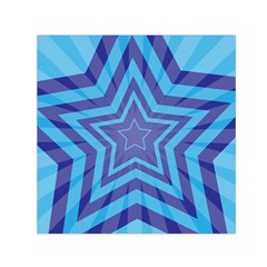 Abstract Starburst Blue Star Small Satin Scarf (square)
