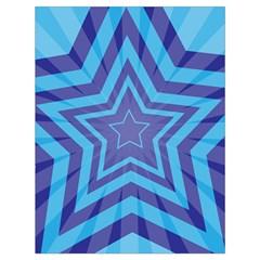 Abstract Starburst Blue Star Drawstring Bag (large)