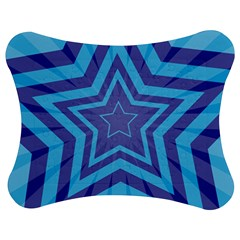 Abstract Starburst Blue Star Jigsaw Puzzle Photo Stand (bow)