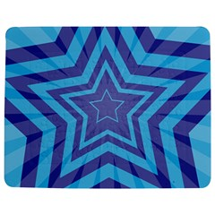 Abstract Starburst Blue Star Jigsaw Puzzle Photo Stand (rectangular)
