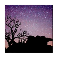 Arches National Park Night Tile Coasters