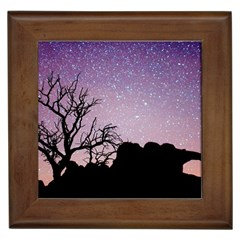Arches National Park Night Framed Tiles
