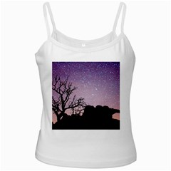 Arches National Park Night White Spaghetti Tank