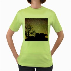 Arches National Park Night Women s Green T-Shirt