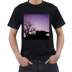 Arches National Park Night Men s T Shirt (black) (two Sided)