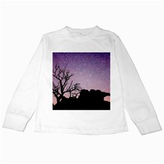 Arches National Park Night Kids Long Sleeve T Shirts