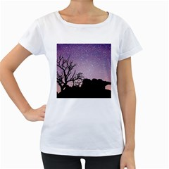 Arches National Park Night Women s Loose Fit T Shirt (white)