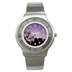 Arches National Park Night Stainless Steel Watch