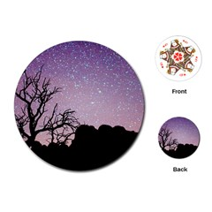 Arches National Park Night Playing Cards (Round)