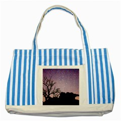 Arches National Park Night Striped Blue Tote Bag
