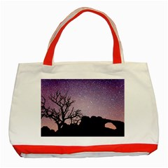 Arches National Park Night Classic Tote Bag (red)