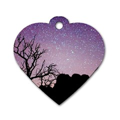 Arches National Park Night Dog Tag Heart (one Side)