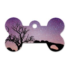 Arches National Park Night Dog Tag Bone (one Side)