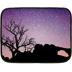 Arches National Park Night Double Sided Fleece Blanket (mini)