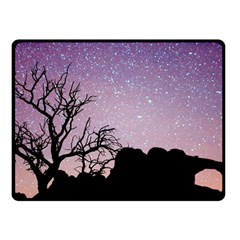 Arches National Park Night Fleece Blanket (small)