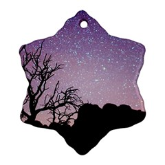 Arches National Park Night Snowflake Ornament (two Sides)