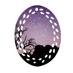 Arches National Park Night Ornament (oval Filigree)