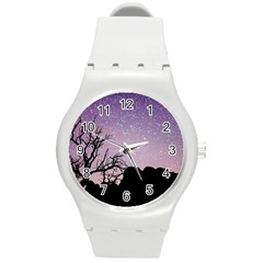 Arches National Park Night Round Plastic Sport Watch (m)
