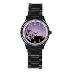Arches National Park Night Stainless Steel Round Watch