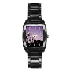 Arches National Park Night Stainless Steel Barrel Watch